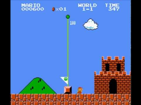 Super Mario Bros - 1-1 Speedrun (No Pipes) - User video