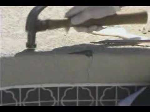 How To Repair Swimming Pool Cement Steps. Walls & Decks