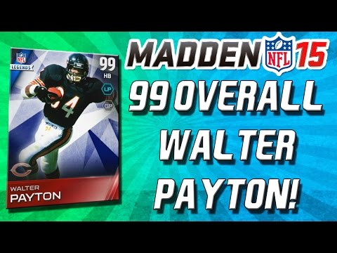 Madden 15 Ultimate Team - 99 OVERALL WALTER PAYTON! BETTER THAN BO JAC...