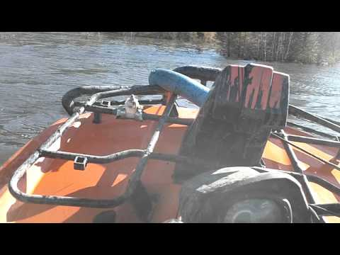 2011 arctic cat MUD PRO 700 water wheelie