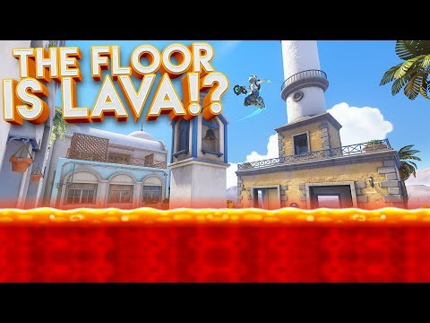 OVERWATCH THE FLOOR IS LAVA CUSTOM GAMEMODE!?