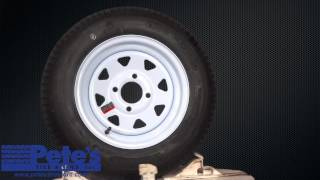 Greenball Towmaster Trailer Tire and White Wheel 4.80x12 (LRC) (4 Lug)
