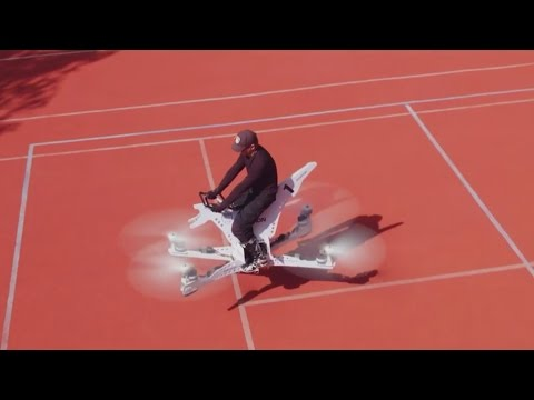 Incredible drone-powered hoverbike built by Russians