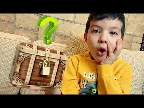 КВЕСТ с загадочным сундуком! Что внутри? Где ключ? Видео для детей kids