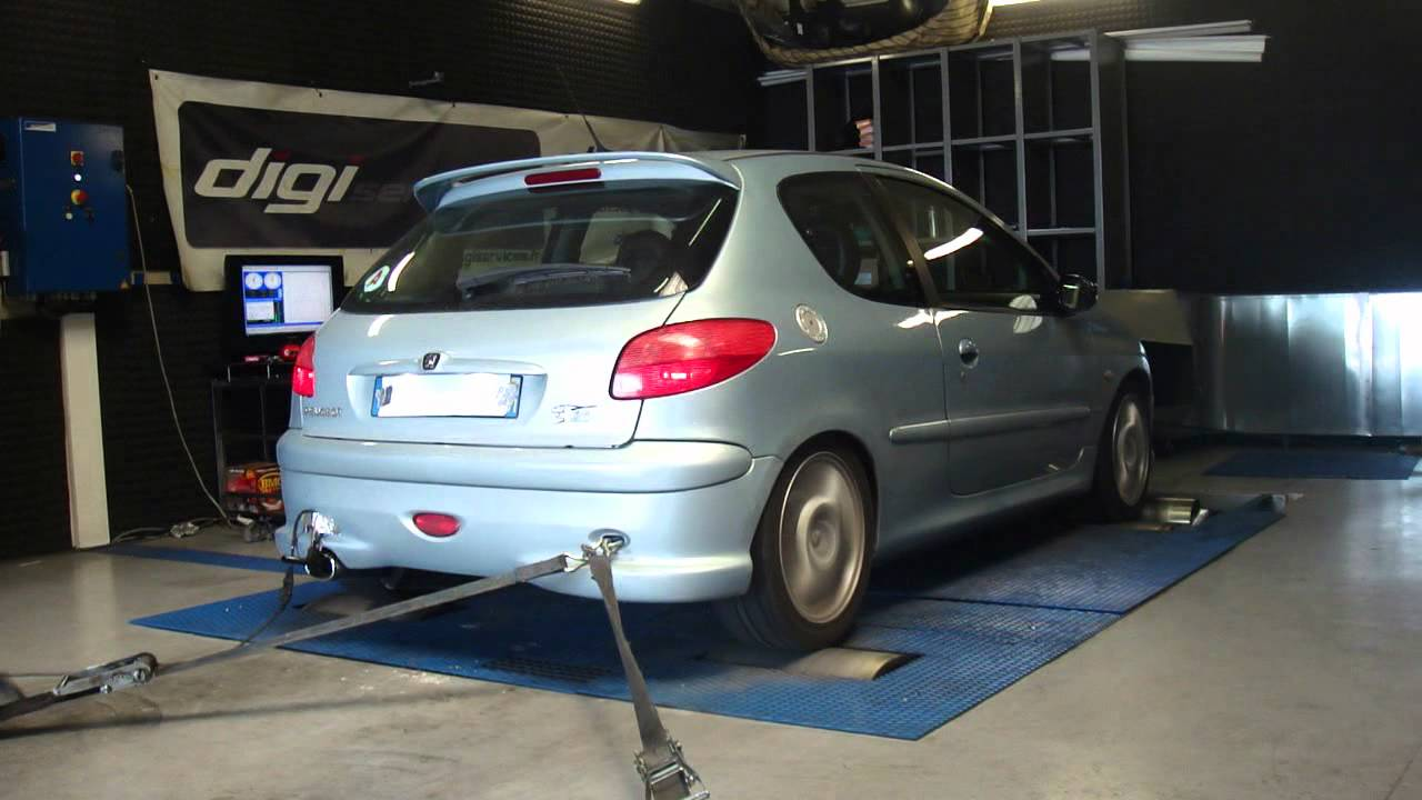 peugeot 206 s16 136cv 154cv reprogrammation moteur dyno digiservices youtube. Black Bedroom Furniture Sets. Home Design Ideas