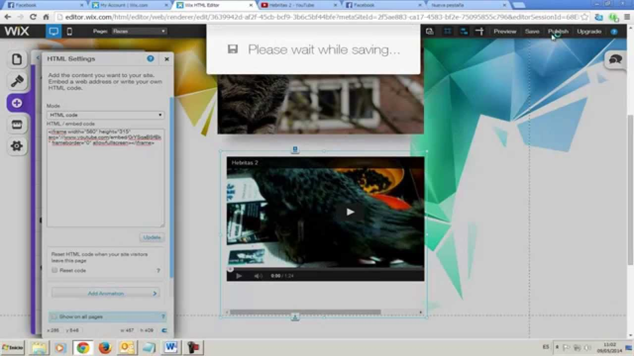 how to add a video to page wix