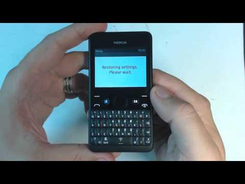 Nokia Asha 210 factory reset