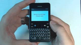 Nokia Asha 210 aplicando hard reset