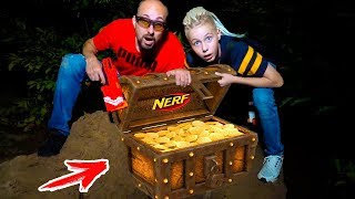 Night-NERF. Found a treasure in the forest. НОЧЬЮ нашли СОКРОВИЩА в лесу.