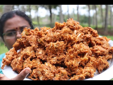 Cooking Simple Cabbage Pakoda in my Village / Crispy Pakoda Recipe / Food Money Food