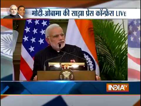 Live: Barack Obama and Narendra Modi addressing Media together