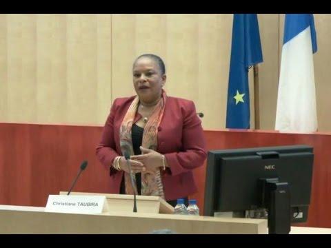 Conférence de Mme Christiane TAUBIRA à l'Université de Montréal