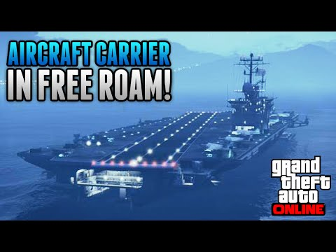 GTA 5 Online - How To Get The AIRCRAFT CARRIER & YACHT in FREE ROAM ONLINE! (GTA 5 Glitches)