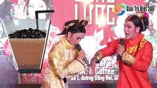 """Lô tô show: Linh Anh bị """"đầu độc"""" bằng trà sữa trân châu khổng lồ, Lâm Nguyễn không tha thủ phạm"""