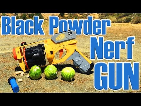 WORLD'S LARGEST NERF GUN Destroying Watermelons!!