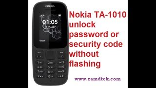 How to remove Nokia TA 1010 password without flashing