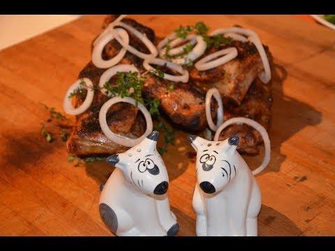 Свиные ребра. Копченые - гриль. Pork ribs. Smoked grill.