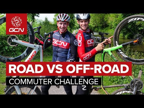 Road Vs Off-Road Commuter Challenge | What Is The Most Fun Way To Cycle To Work?