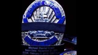 Riverside Police Department Moment of Silence for Officer Crain and Tachias- Feb 07, 2015