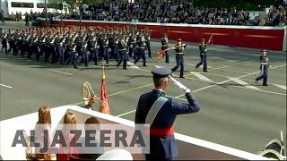 Spain celebrates National Day amid Catalonia crisis