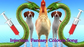 Colourful Learning With Fantasy Injection Colours Song Collection || 3D  Nursery Rhymes For KIds