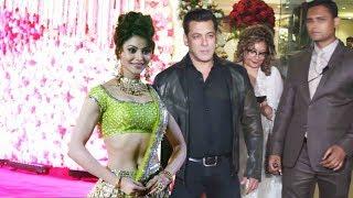 Salman Khan और Urvashi Rautela पहुचें Karim Morani के बेटे Azhar के Wedding Reception पर