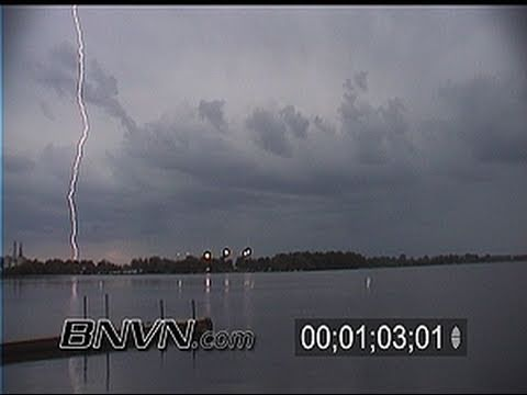 6/16/1999 Lightning video over Howard Lake, MN