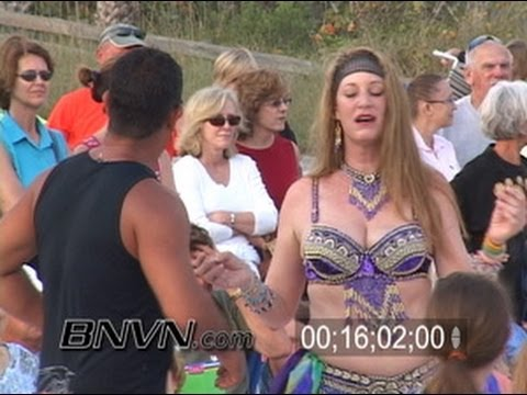 4/9/2006 Siesta Key Beach Drum Circle News Video B-Roll