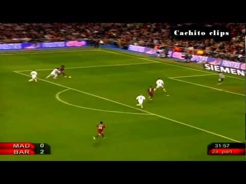 Ronaldinho,Eto's & Messi Best Game Ever Vs Real Madrid