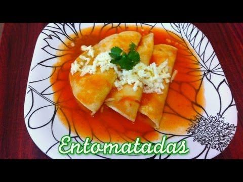 Ricas Entomatadas de Durango, receta facil, rapida y economica para esta cuaresma.