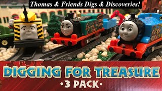 Thomas and Friends Digs and Discoveries-Trackmaster Digging for Treasure 3-Pack!