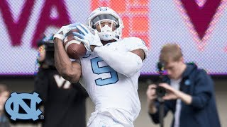 UNC's Dazz Newsome Catches Two Touchdowns Against VT