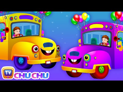 Wheels On The Bus Go Round And Round Rhyme (part 2)  - Cartoon Animation Rhymes Songs For Children video