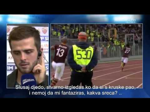Smijesno - AS Roma vs. Napoli - 2:0, Interview Miralem Pjanic