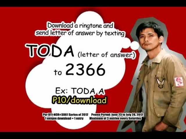 Todamax Text Promo, Todamax text na Kapamilya!