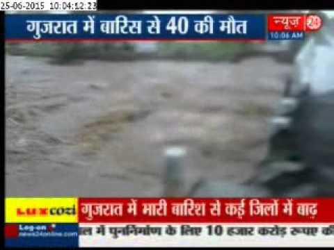 Heavy rains in Gujarat kill 40 people, thousands evacuated