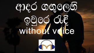 Adara Gangulehi Karaoke (without voice) ආදර ගඟුලෙහි ඉවුරෙ රැඳී