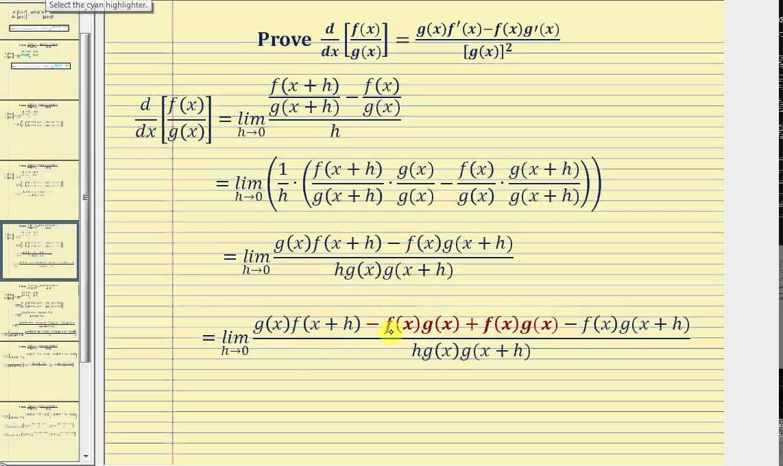 Proof - The Quotient R...