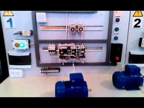Параллельный пуск электро двигателя через реле вр