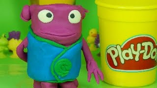 Play Doh activities for kids .How to make Oh from Home movie