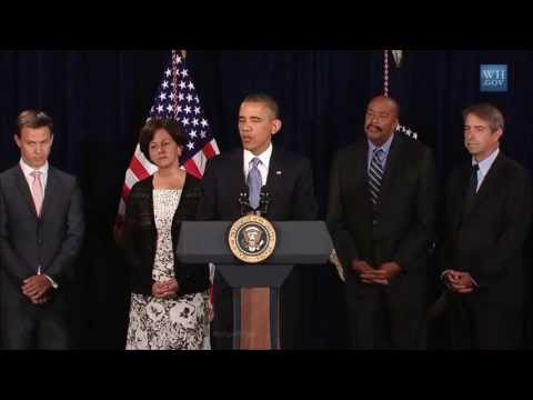 Barack Obama in California Answers ONE Question From Press  - Domestic Spying