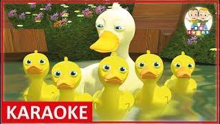 KARAOKE || Five Little Ducks | Nursery Rhymes for kids