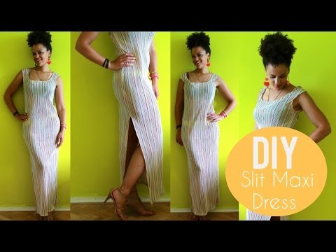 DIY Maxi Dress with a Split | DIY Clothes