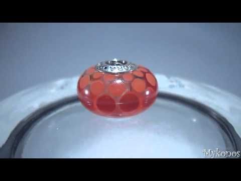 Pandora Bead Murano Glass Red Exotic Xl Charm 790697 video
