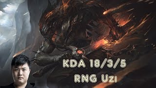 RNG Uzi YASUO vs VARUS ADC  (League Of Legends Challenger Replay)
