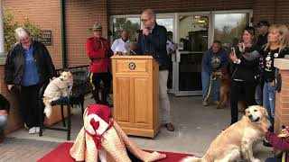 Smiley - Blind St. John Ambulance Therapy Dog Bronze Statue Unveiling Ceremony (Full Video)