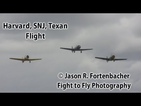 Aviation Day - Harvard - SNJ - Texan Flight - Plus Skyraider