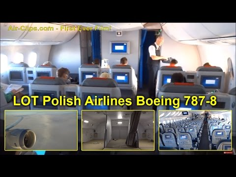 Fantastic LOT Polish Airlines Boeing 787 Dreamliner First Flight Frankfurt to Warsaw