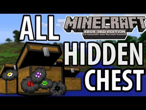 Minecraft (Xbox 360) - TU9 Update - ALL 12 HIDDEN CHEST Walkthrough/Guide