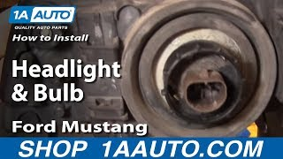 How To Install Replace Headlight and Bulb Ford Mustang 99-04 1AAuto.com